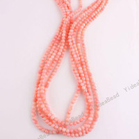 Wholesale 220pcs Hot Sale Pink Coral Charms Bead Diy Round Shape Gemstone Beads Fit Bracelets mm
