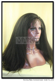 Wholesale full lace wig kinky straight inch darkest brown