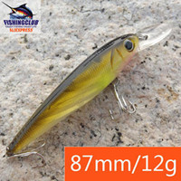 Wholesale fishing hard bait with hooks fishing tackle minnow mm gm fishing lures tools gear HX126