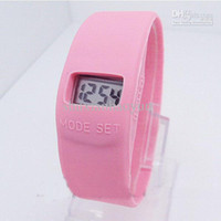 Wholesale iou87ut Summer square digital slap watch silicon watch unisex children s fashion waches