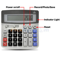 Wholesale USB Rechargeable Pinhole Spy Camera Disguised as Working Calculator GB