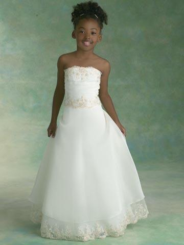 FLOOR LENGTH FLOWER GIRL DRESSES - Sanmaz Kones