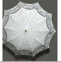 Wholesale 10pcs New Design white wedding full batten belgian costume victorian LACE umbrella parasol home garden