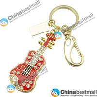 Wholesale 32 GB USB Stylish Crystal Guitar Design USB Flash Drive Red memory usb disk U disk