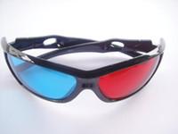 Wholesale Red Cyan Blue D Dimensional Glasses Plastic Frame for D Moive Game