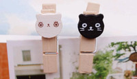 Bookmarks paper folder - Wood Note Clips Educational Toy cat Paper Photo Note Clip Bookmark folder clip
