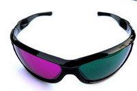 Wholesale Green Red Magenta D Glasses for D DVD Moive Game A60 Plastic Frame