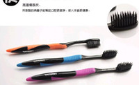 Wholesale Korea nano bamboo Anion Charcoal health dual adult toothbrush high quality pack
