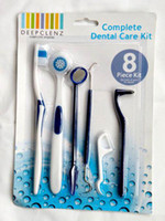 Wholesale piece kit home dental care kit dental stain eraser mirror tongue tooth brush toothpick