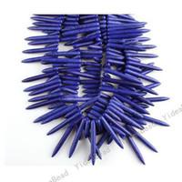 Wholesale 170pcs Blue Picks Shaped Howlite Turquoise Gemstone Beads Fit Jewelry Bracelets Necklaces DIY