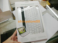 Wholesale 20pcs Mobile bluetooth keyboard for ipad2 for ipad with aluminum case as pictures shown