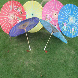 Wholesale hand made inches Bridal wedding parasols Chinese imtation pongee parasols Ladies sun umbrellas
