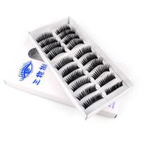 Wholesale Fake False Eyelash Synthetic Eye Lashes Dance Colour Makeup False Eyelashes Mix Order Pair By EMS