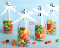 Wholesale 70pcs Small Champagne Bottle Wedding Candy Box Wedding Gifts Wedding Favors BH CP1