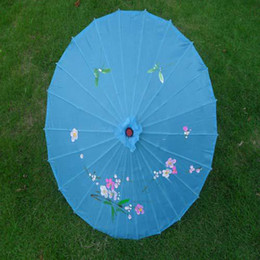 Wholesale hand made inches bridal wedding parasols Chinese bamboo parasols Sun umbrellas