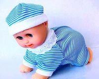 Wholesale MOQ pc electronic toy baby kids toy baby dolls climb doll crawling baby dance music speak