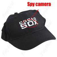Wholesale 4 GB COCAL SOX Black Pinhole Camera Hidden in Spy Video Baseball Cap with Remote Control