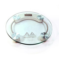 Wholesale Tempered glass Electronic Scale home use personal health scale round A
