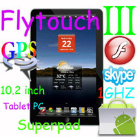 Wholesale 20pcs quot Flytouch Android tablet pc GPS WIFI Camera HDMI Ghz flash X220 epad