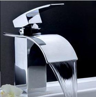 Wholesale Single Handle Chrome Waterfall Bathroom Sink Faucet