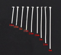 Wholesale DIY new Plated Silver metal findings jewelry head Pins Flat head Pins mm mm