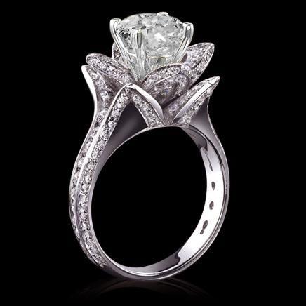 2017 5 carat diamonds flower shape engagement ring gold new from edfdfgh dhgate com. Black Bedroom Furniture Sets. Home Design Ideas