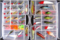Wholesale Soft Plastic Tube Fishing hooks Chunk Fishing Lures Tackle Box kits set