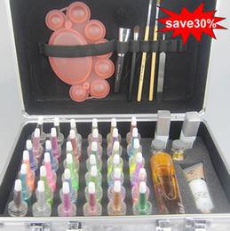 Wholesale Body Painting Tattoo Deluxe Kit Colors Supply Kit glitter tattoo kit Body Art Luxurious Kit