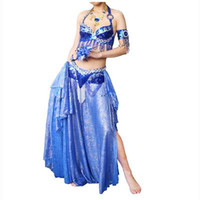 Wholesale C9180601 New women Hand embroiders Belly dance garments suit bra skirt costume