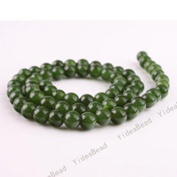 Wholesale 315pcs Dark Greeen Color Malay jade Charms Beads Gemstone Chains Loose Bead Fit Necklaces mm