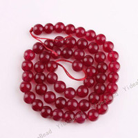 Wholesale 315pcs Dark RED Color Malay jade Charms Beads Gemstone Chains Loose Bead Fit Necklaces mm