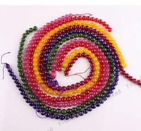 Wholesale 130pcs MIXED COLOR Malay jade Charms Beads Gemstone Chains Loose Bead Fit Necklaces mm