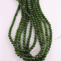 Wholesale 126pcs Dark Greeen Color Malay jade Charms Beads Gemstone Chains Loose Bead Fit Necklaces mm