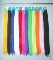 Wholesale EMS pair inch Mixed Color Cotton Fabric Shoelace SH1