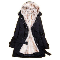 Wholesale Hot sell New Hooded Women s Fur Winter With Faux Fur Ling Long Coat Outerwear
