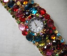 Lady Girl rhinestone Quartz Bracelet Bangle Watch 20pcs lot