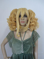 Cheap Wholesale - - Fashion New Arrivals HEAT-RESISTANT FIBER wigs yellow cosplay hair party wig 10pcs lot
