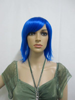 African-American Wigs straight mix order Wholesale - - New Arrivals HEAT-RESISTANT FIBER wigs cosplay hair blue party wig 10pcs lot