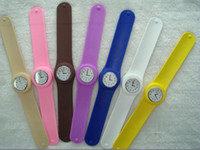 battery nurse - 20pcs Women s Fashion Watches Jelly Silicone Snap Nurse Slap Sport type Watch Watches With SS COM