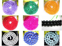 Wholesale round mm Multicolor jade gemstone loose Beads ADCG9