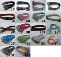 Wholesale DIY mm mix color Rubber Necklace Leather Cord With Lobster Clasp jewelry findings
