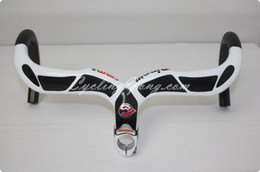 Wholesale full carbon bar Cinelli Ram2 Ergo Full carbon fiber road Integrated handlebar Stem White bicycle parts road bike handlebar