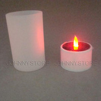 Wholesale solar led yellow candle light with frosted cup party light bar tea light