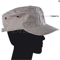 Wholesale 5pcs GB CMOS Pinhole Camera in spy Video Checked Stitches Grey Outdoor Cap with Remote Control