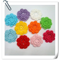 Wholesale Hand crochet cotton flower a shipping free