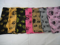 Wholesale EMS shipping Brand new silk scarves Scarf Fashion Skull Scarves Shawls with tags Gift Best Selling