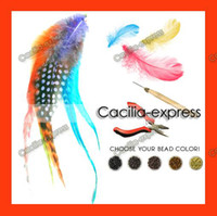Wholesale Feather Extension Kit Featers Extensions Feathers Beads Plier Needle