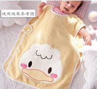 80 100 Small  Children's Sleeping Bags Baby Pea Sleeping Bag Cartoon Yellow Duck sleep bags sleepwear pajamas Q23