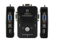 Wholesale Video VGA KVM Switch Ports USB Box Manual HOT Plug New D0302A