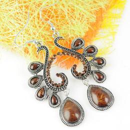 India Jhumka Earrings, Alloy Stud Earrings, Fashion Jewellery,Fish Hook, Rhinestone Pendant, ER-458G